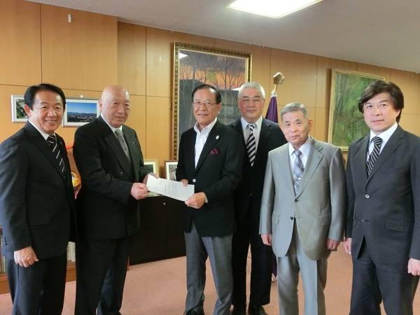 2014年9月26日におこなわれた立川市長訪問の様子